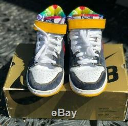 Nike Dunk Mid Pro SB Tie Dye Men's Size 12 2008 Very Good Cond 100% Authentic