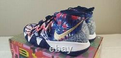 Nike Kyrie 5 Kybird S2 Men's Size 10 Shoes CQ9323 400 Tie Dye Blue