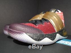 Nike Kyrie II 2 ID Team Red Gold Black Multicolor Tie Dye Dream 843253-997 11.5