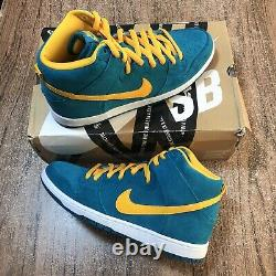 Nike SB Dunk High Pro SB Tropical Teal 305050-371 Mens Size 11.5 WORN ONCE