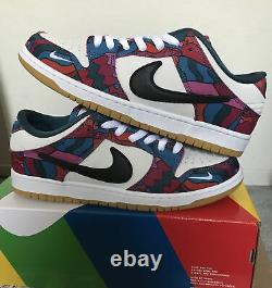 Nike SB Dunk Low Pro Parra Abstract Art Mens Size 10.5/WMNS 12 (DH7695-600)
