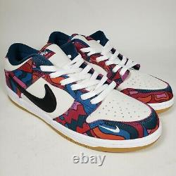 Nike SB Dunk Low Pro QS Parra Abstract Art, Mens Size 12, Fireberry/Black