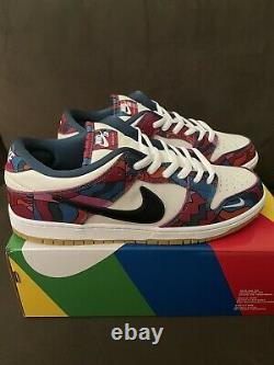 Nike SB Dunk Low Pro QS Parra, Mens US Size 13, Fireberry/Black. New with box