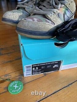 Nike SB Dunk Low Skate Camo Size 8.5 Pre-owned