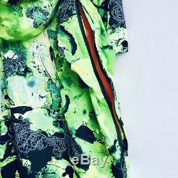 Nike SB Kampai Green Neon Tie Dye Print 6.0 Snowboarding Jacket Large L adidas