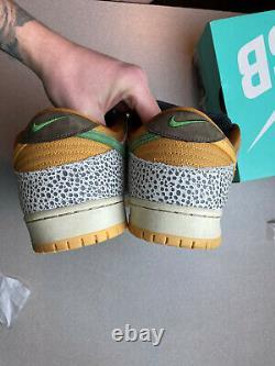 Nike SB Safari Dunk Low Size 14 CD2563-002 FREE SHIPPING 9/10 OG RECEIPT 100%AUT