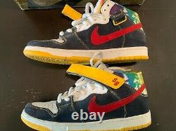 Nike SB Tie Dye Dunk Mid Navy Red OBSIDIAN/ VARSITY RED Size 10
