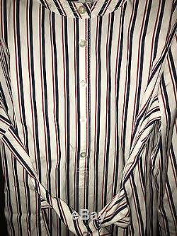 Nwt J Crew Thomas Mason Stripe Tie Waist Shirt Sybil Shirtdress Resume Dress 14