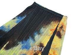 PLEASE PLEASE ISSEY MIYAKE Flare Long Skirt Tie-dye Pattern Multi-Color Size 5