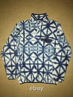 Patagonia Tie Dye Snap-t Womens Large L Blue Synchilla Fleece Pullover Euc