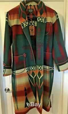Polo Country Ralph Lauren Men Fireball Southwestern Aztec Navajo Wrap Coat O/S
