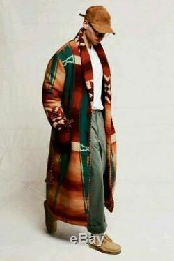 Polo Country Ralph Lauren Men Wool Southwestern Aztec Navajo Robe Jacket Coat