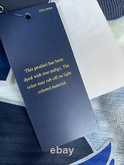 Polo Ralph Lauren Indigo Stadium P-Wing Crew Tie Dye Size XL