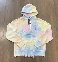 Polo Ralph Lauren Laguna Pastel Tie Dye Fleece Hoodie Sweatshirt Sweater Mens L