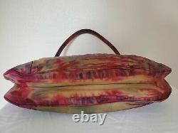 Prada Leather purse small Handbag Red Blue tie dye bag tan brown green turquoise