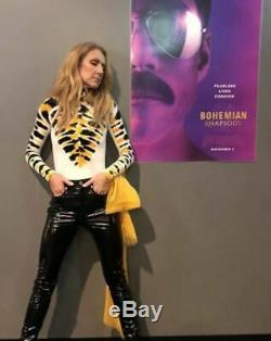 Proenza Schouler NEW Yellow Black White Tie Dye Crewneck Velvet Jersey Top XS