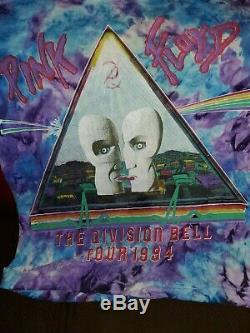 RARE 1994 Vintage Pink Floyd Tie Dye Shirt Size Lg