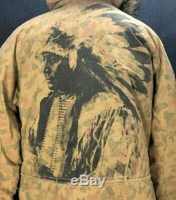 RARE Denim & Supply Ralph Lauren Indian Parka Coat DOWN Feather Filled XL Mens