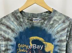RARE VTG George Clinton Tie Dye Parliament Funkadelic T-Shirt Size XL