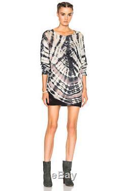Raquel Allegra Shred Shoulder Tie-Dye Sweater 0/ XS NWT $448