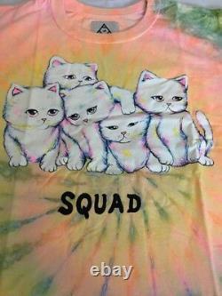Rare HTF New UNIF Cat Squad Tie Dye Tee Med