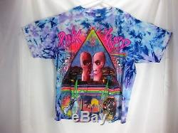 Rare Mistake print Vintage Pink Floyd Tie Dye Division Bell 1994 Tour T-shirt