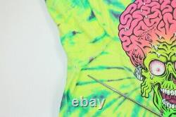 Rare Santa Cruz Mars Attacks Topps Skateboard Tie Dye Movie Promo Shirt Large