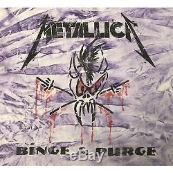 Rare Vintage 1994 Metallica Bing & Purge Tour Tie Dye Shirt