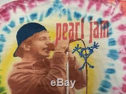 Rare Vtg 1995 Pearl Jam Grunge Band World Tour Concert Tie Dye T shirt Sz XL