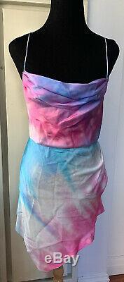 Retrofete 100% Silk Tie Dye Auris Dress Sz M NWT $405