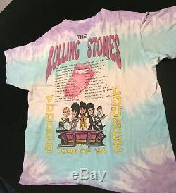 Rolling Stones Vintage Voodoo Lounge 1994 World Tour Vintage Tie Dye Shirt XXL