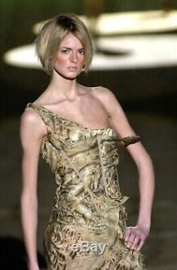 Runway Editorial Roberto Cavalli Long Silk Corset Gown Dress Sz 38/ XS $15,500