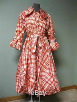 Simone Rocha Tomato Web Bell Twill Taffeta Puff Coat Dress UK6 Louise Bourgeois