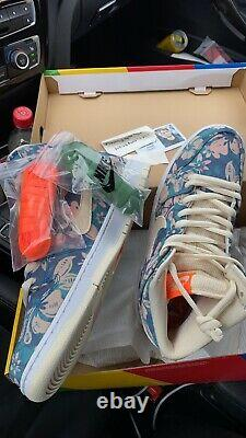 Size 10.0 M/11.5W- Nike SB Dunk High Pro Hawaii Blue/Green Aqua/Sail