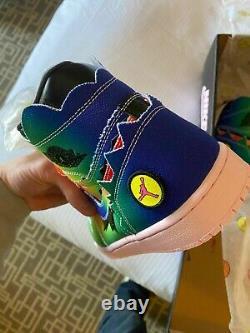 Size 11 Air Jordan 1 Retro OG High x J Balvin Tie Dye