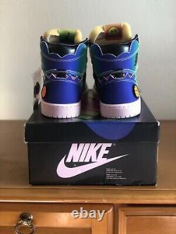 Size 8 Air Jordan 1 Retro OG High x J Balvin Tie Dye