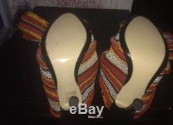 Sold Out No. 21 Ronny Stripe Twist Tie Knot Mules Org $690
