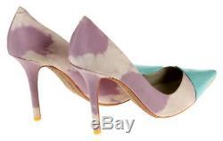 Sophia Webster X J Crew Lola Pink Tie Dye Patent Cap Toe Pumps Heels 9.5 40 Eu