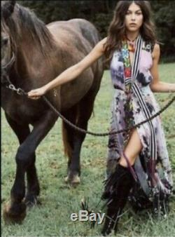 Spell And The Gypsy Collective Lucy Sky Tie Dye Crochet Gown Dress