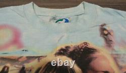 Star Wars Episode One Liquid Blue Large Tie-Dye T-Shirt Vintage 90's Movie Tee