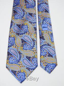 Stunning $280 Brioni Liquid Gloss Paisley Italian Soft Silk Tie L 61 X W 3.5