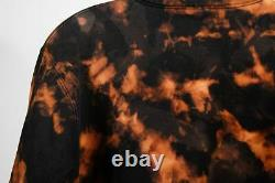 Supreme Womens 1/4 Zip Jacket Black Tan Tie Dye Pullover Long Sleeve Skater M
