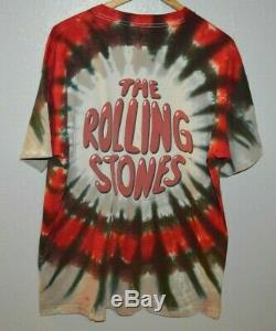 THE ROLLING STONES Tie Dye Vintage 1994 Double Sided T-Shirt Mens XL