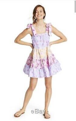 Target x LoveShackFancy Jeanne Tie-Strap Tiered Dress XS