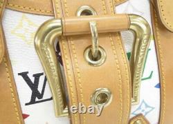 The Marilyn Bag-RARE Auth Louis Vuitton Theda GM Multicolor Murakami White
