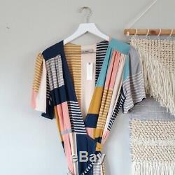 The Odells ANTHRO Positano Maxi Wrap Dress NWT sz. Large
