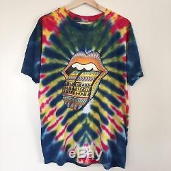 The Rolling Stones 1997'Bridges to Babylon' Tie-Dye Vintage Concert T-Shirt