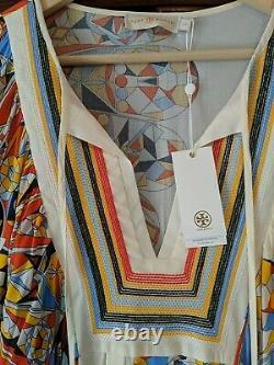 Tory Burch Kaleidoscope Dress Tunic Coverup Large New! HTF
