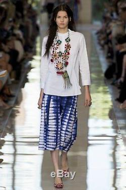 Tory Burch Kelby Skirt $300 Indigo Blue Tie Dye 0 XS XXS Runway Tea Shibori