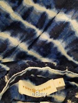 Tory Burch Tory Tunic tie Dye Blue Cotton 4 2017 Resort XS S